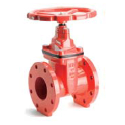 AWWA C515 Resilient seated NRS gate valve-flange end