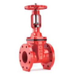 AWWA C515 Resilient seated OS&Y gate valve-flange end