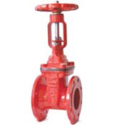 BS5163 Resilient seated OS&Y gate valve-flange end