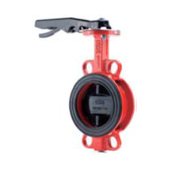 Butterfly valve with lever handle wafer style