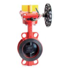 Butterfly valve with tamper switch wafer style