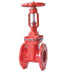 DIN F4 Resilient seated OS&Y gate valve-flange end